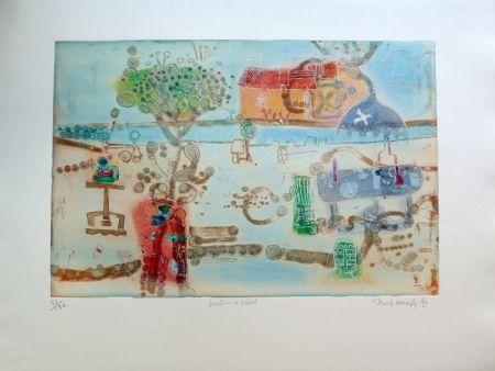 Etching Hasegawa - Jardin d'artiste