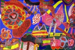 Lithograph Corneille - Jardin Des Delices