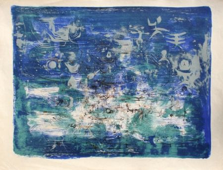 Lithograph Zao - Jardin la Nuit (Garden at the Night)