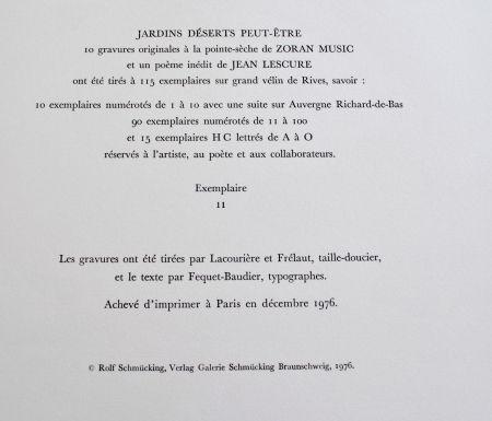 Lithograph Music - Jardins Dèserts Peut-Ètre