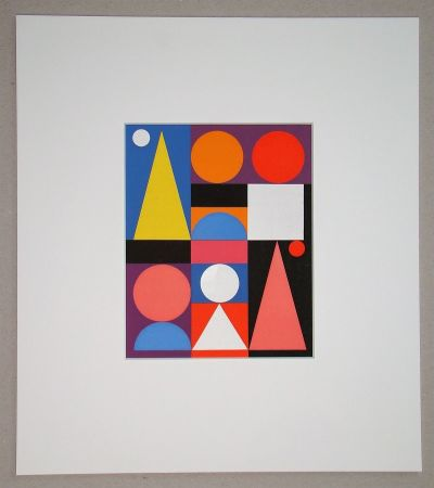 Screenprint Herbin - Jaune - 1946