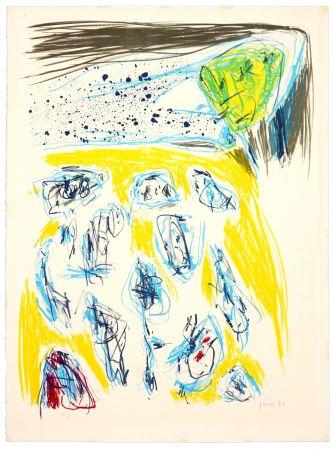 Lithograph Jorn - Jaune bleu
