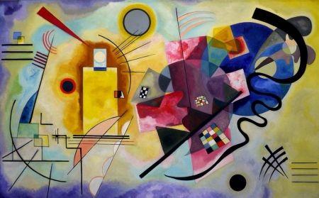 Lithograph Kandinsky - Jaune bleu rouge