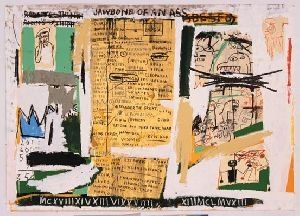 Screenprint Basquiat - Jawbone of an ass