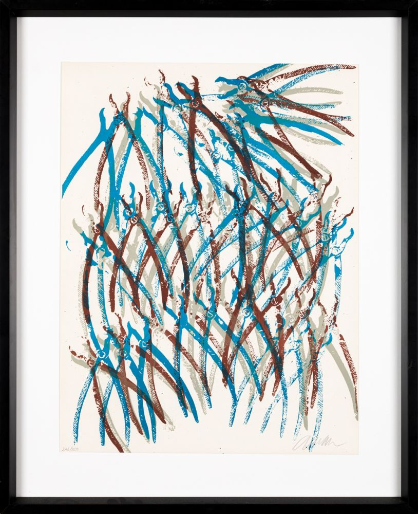 Lithograph Arman - Jaws