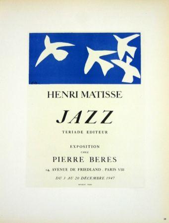 Lithograph Matisse - Jazz