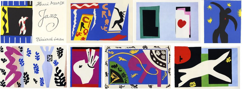 Illustrated Book Matisse - JAZZ (20 lithographies en couleurs hors-texte).