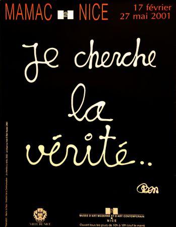 Poster Vautier - '' Je Cherche la Vérité ''