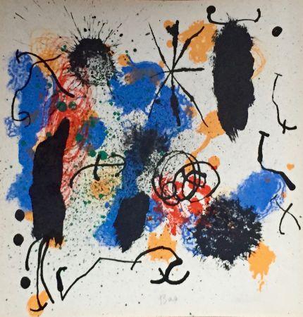 Lithograph Miró - Je Travaille Comme Un Jardinier
