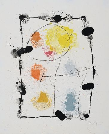 Lithograph Miró - Je travaille comme un jardinier (I work like a gardener), 1963