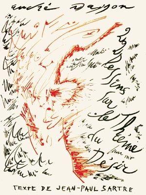 Lithograph Masson - Jean-Paul Sartre : Vingt-Deux Dessins Sur Le Thème Du Désir