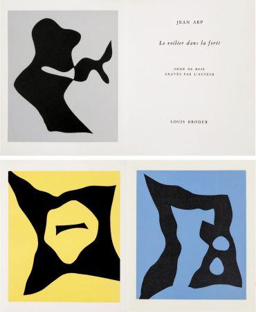 Illustrated Book Arp - Jean Arp : Le Voilier dans la forêt. 7 bois originaux. 1957.