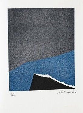 Lithograph Santomaso - Jean Cassou: vingt-deux poèms