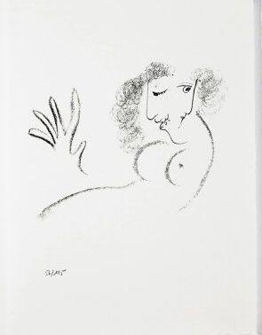 Lithograph Chagall - Jean Cassou: vingt-deux poèms