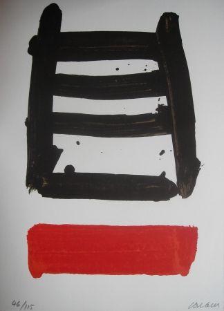 Lithograph Soulages - Jean Cassou: vingt-deux poèms