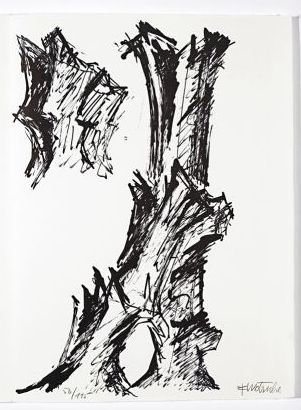 Lithograph Wotruba - Jean Cassou: vingt-deux poèms
