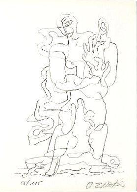 Lithograph Zadkine - Jean Cassou: vingt-deux poèms
