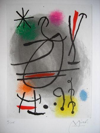Etching And Aquatint Miró - Jean Cassou: vingt-deux poèms