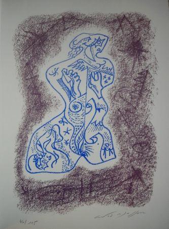 Lithograph Masson - Jean Cassou: vingt-deux poèms
