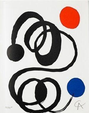 Lithograph Calder - Jean Cassou: vingt-deux poèms