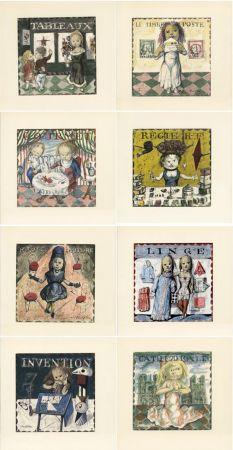 Illustrated Book Foujita - Jean Cocteau : LA MÉSANGÈRE (1963). Ex. sur Japon nacré