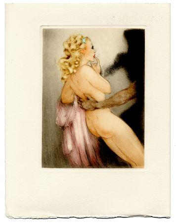Illustrated Book Icart - Jean de la Fontaine : LES AMOURS DE PSYCHÉ ET DE CUPIDON. Pointes sèches de Louis Icart (1949).