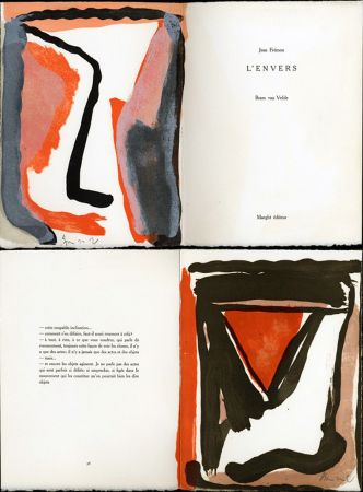 Illustrated Book Van Velde - Jean Frémon. L'ENVERS. Maeght, Paris 1978
