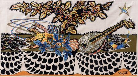 Multiple Lurcat - Jean LURCAT (1892-1966), d'après. La Table. Tapisserie en laine. Signée.