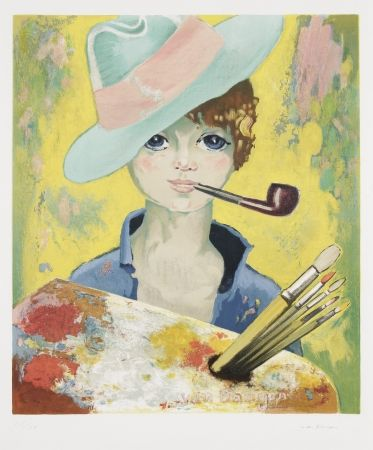 Lithograph Van Dongen - Jean Marie Avec Pipe