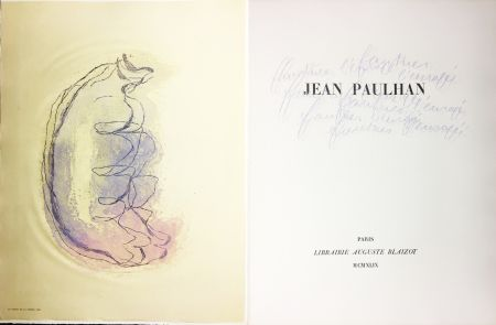 Illustrated Book Fautrier - Jean Paulhan : FAUTRIER L'ENRAGÉ (1949)
