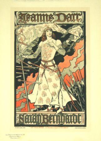 Lithograph Grasset - Jeanne D'arc  Les Maitre de L'affiche Planche 174
