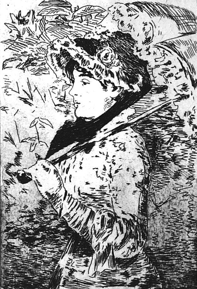 Engraving Manet - Jeanne ou le printemps