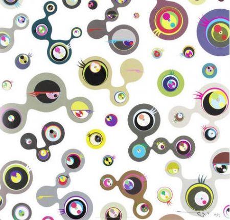 Lithograph Murakami - Jellyfish Eyes – White 4