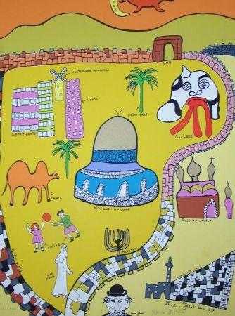 Screenprint De Saint Phalle - Jerusalem