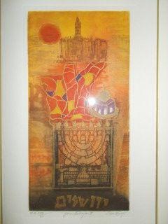 Etching Engel - Jerusalem II