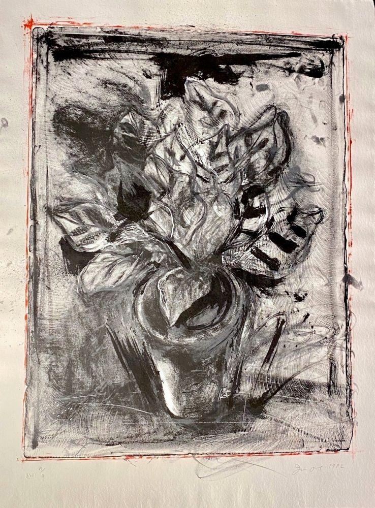 Lithograph Dine - Jerusalem Plant #5