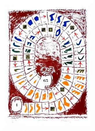 Lithograph Alechinsky - Jeu classique