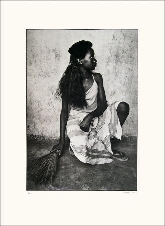 Lithograph Huguier - Jeune fille