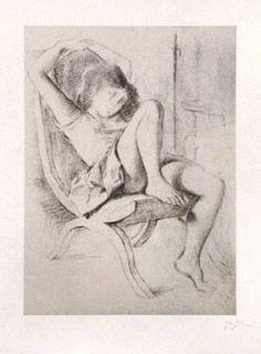 Lithograph Balthus - JEUNE FILLE
