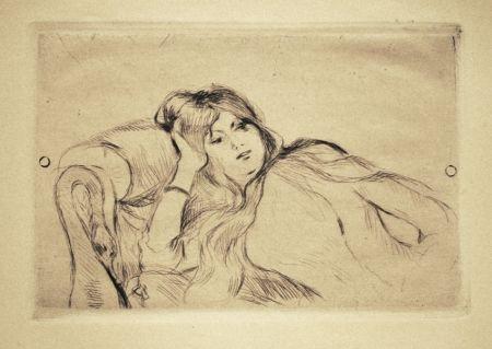 Drypoint Morisot - Jeune fille au repos