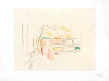 Lithograph Balthus - JEUNE FILLE DE DOS