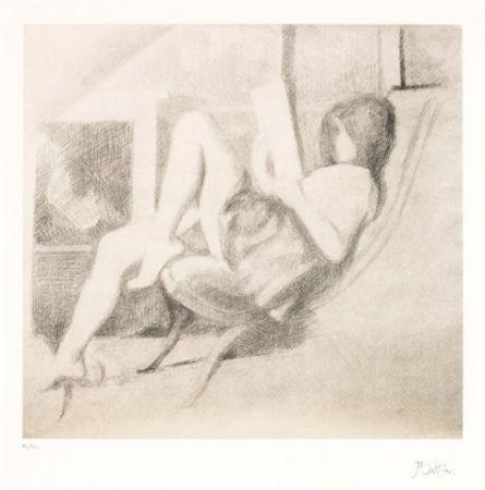 Lithograph Balthus - Jeune fille lisant