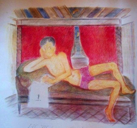 Lithograph Klossowski - Jeune homme
