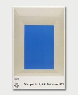 Screenprint Albers - Jeux Olympiques de Munich 1972