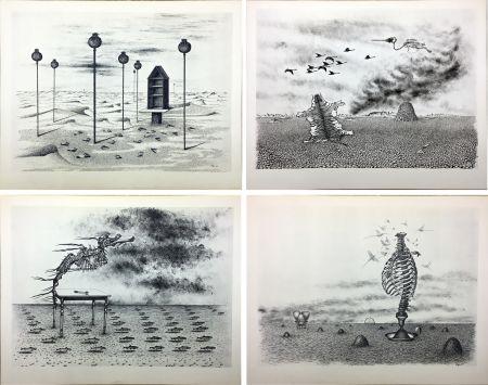 Illustrated Book Toyen - Jindrich Heisler : CACHE-TOI GUERRE ! Poème. Cycle de 9 dessins de Toyen de 1944