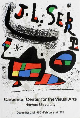Poster Miró - J.L. SERT. Carpenter Center for the Visual Arts. Harvard University 1978-1979.