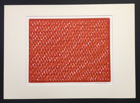 Aquatint Dorazio - Jnd - Just Noticeable Difference, 1964