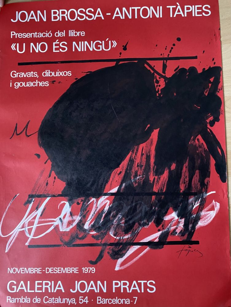 Poster Tàpies - Joan Brossa- Antoni Tàpies Poster