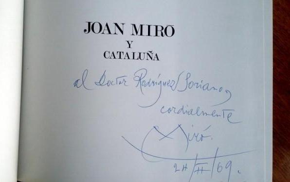 Illustrated Book Miró - JOAN MIRÓ Y CATALUÑA (Signed)