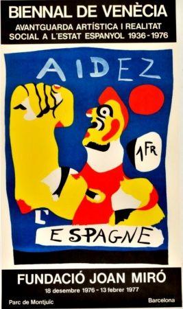 Poster Miró - Joan Miró -Aidez l'Espagne. Biennal de Venecia
